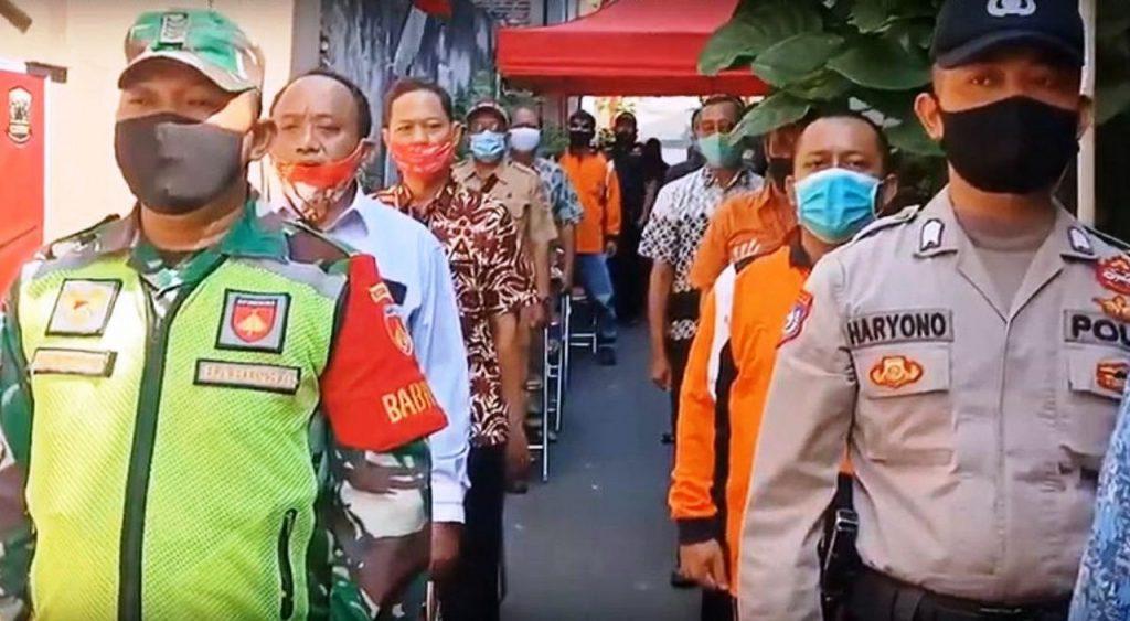 Kumandang Indonesia Raya di Sambutan Camat Candisari dalam Peresmian Kampung Siaga Candi Hebat RW 5 Kelurahan Candi